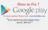 Error retrieving information from server RH-01